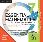 Essential Maths for the Australian Curriculum Year 7 Second Edition Student Reactivation Code